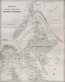 foto of bonaparte  - Old map of explorers Speke and Grant itinerary from Kazeh  - JPG