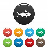 Tuna Fish Icon. Simple Illustration Of Tuna Fish Icon For Web Design Isolated On White Background poster