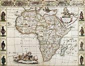 Постер, плакат: Старая карта Африки Созданный Фредерик де Вит опубликованный в Амстердаме 1660