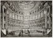stock photo of versaille  - Old illustration of Royal Opera of Versailles - JPG