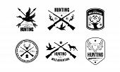 Hunting Club Logo, Wild Adventure Retro Badge, Wildlife, Hunting, Travel, Adventure Labels Vector Il poster