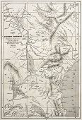 stock photo of bonaparte  - Old map of equatorial Africa - JPG