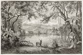 picture of luzon  - Old view of enchanted lagoon - JPG