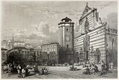 picture of messina  - Old view of Messina Duomo square - JPG