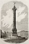foto of liberte  - July column old illustration - JPG
