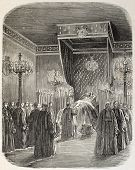 stock photo of bonaparte  - Jerome Bonaparte funeral room - JPG
