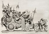 pic of chariot  - Roman carnival chariot old illustration - JPG
