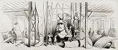 Постер, плакат: Арминий статуя в мастерской Эрнест де Бандел Созданный Герин Опубликовано Magasin Pittoresque P