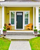 picture of brownstone  - Entrance of a house - JPG
