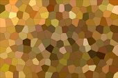 Handsome Abstract Illustration Of Brown And Red Impressionism Middle Size Hexagon. Useful  For Your  poster