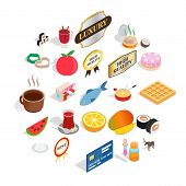 Quality Food Icons Set. Isometric Set Of 25 Quality Food Vector Icons For Web Isolated On White Back poster