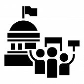 Political Election Meeting Icon. Simple Illustration Of Political Election Meeting Icon For Web Desi poster