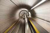 pic of zurich  - Going trough the underground tunnel  - JPG