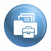 Folder Briefcase Icon. Simple Illustration Of Folder Briefcase Vector Icon For Web Design Isolated O poster