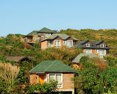 House on a hillside, beautiful brand new home in a rural setting poster