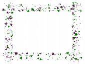 Blast, Broken Glass Memphis Vector Frame. Triangle Fragmentation Particles Explosion Border Design.  poster