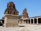 pic of vijayanagara  - Krishna Temple at Hemakuta Hill a part of the Sacred Center of Vijayanagara around Hampi a city located in Karnataka South West India - JPG