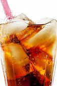 image of coca-cola  - Photograph of a refreshing glass of coca cola with ice cubes - JPG