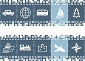 Blue Dots Bar With Travel Icons poster