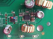 picture of potentiometer  - Detail of an electronic printed circuit board - JPG