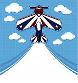 funny acrobatic airplane cartoon