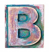 Wooden alphabet block, letter B