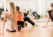 stock photo of health center  - Dance class for women at fitness centre - JPG