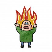 picture of ogre  - mutant ogre man on fire cartoon - JPG