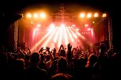 foto of crowd  - Rock concert - JPG