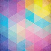 image of color geometric shape  - Colorful abstract triangles abstract vector background - JPG