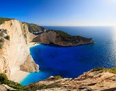 Shipwreck Navagio beach in Zakynthos island Greece