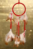 foto of dream-catcher  - Beautiful dream catcher on background with lights - JPG