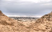 stock photo of jericho  - Landscape of jericho and judean desert in palestine - JPG