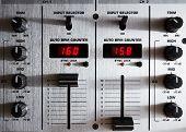 Постер, плакат: Профессиональный звук смешивания контроллер