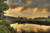 Sunrise Reflection In Durham River Wear