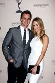 LOS ANGELES - JUN 13:  Darin Brooks, Kelly Kruger arrives at the Daytime Emmy Nominees Reception pre