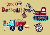 foto of truck-stop  - Truck stop Demolition print - JPG