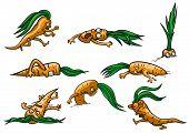 picture of runaway  - Illustration of cartoon frightened runaway - JPG