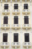windows in the house of the camera oscura, Plaza Vieja, Havana, Cuba