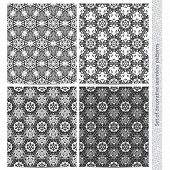 Set of seamless mosaic patterns