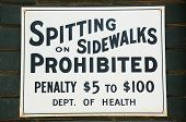Spitting Prohibited