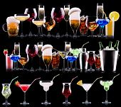 picture of scotch  - different alcohol drinks set   - JPG