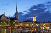 picture of zurich  - Evening - JPG
