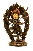 stock photo of tantric  - Statue of Vajrayogini on a white background - JPG