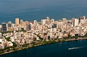 pic of ipanema  - Aerial View of Ipanema District between Ocean and Lake in Rio de Janeiro - JPG