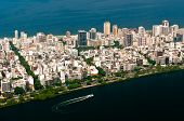 foto of ipanema  - Aerial View of Ipanema District between Ocean and Lake in Rio de Janeiro - JPG