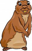 stock photo of gopher  - Cartoon Vector Illustration of Funny Gopher Animal - JPG