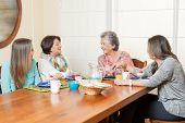 pic of grandma  - Family breakfast with grandma - JPG