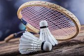 picture of shuttlecock  - A set of badminton - JPG