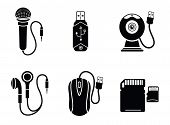 foto of memory stick  - Icon set with web camera - JPG